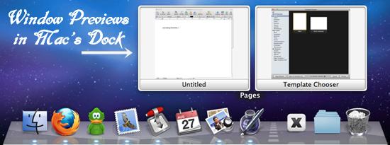 Dockview - Create Windows Preview in Mac Dock