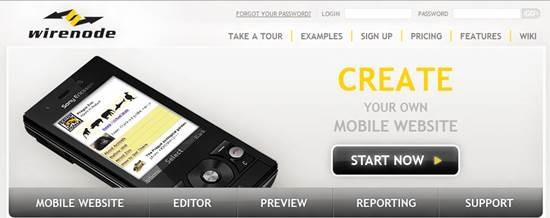 Wirenode Mobile website builder