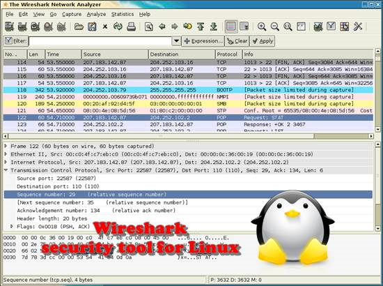Wireshark Top 10 Linux security tools for Linux administrator