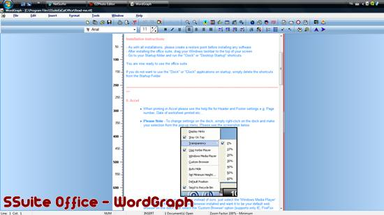 WordGraph open source word processor