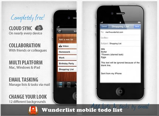 Wunderlist - to do list for iPhone and mac