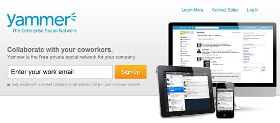 Yammer free private social network