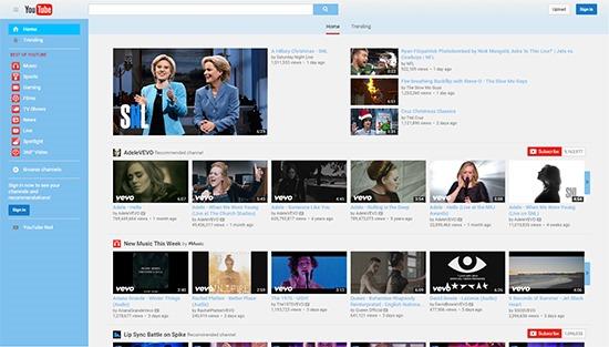 YouTube Blue Theme