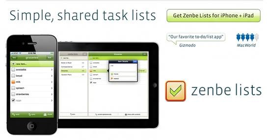 Zenbe Lists - to do list apps for iPhone