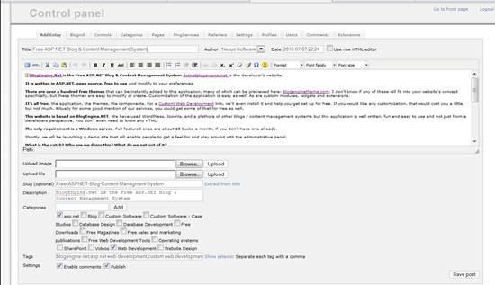 BlogEngine.NET - ASP.net based blogging engine