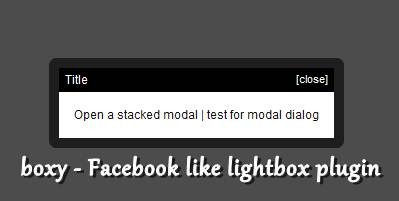 boxy - Facebook like lightbox plugin