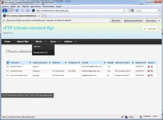 Clients-Oriented FTP Interface – cFTP