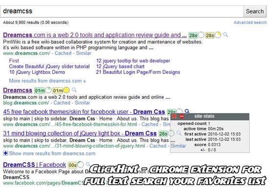 clickhint chrome browser addon