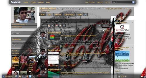 coca cola facebook theme