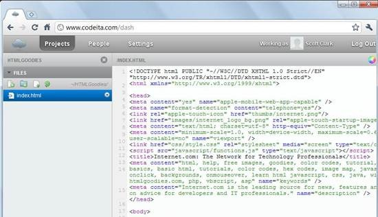 codeita - cloud-based web development tools