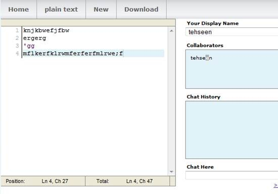 Collabedit - collaborative real-time source code editor