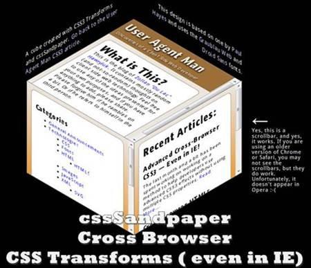 cssSandpaper - Cross Browser CSS Transforms