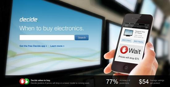 decide.com 18 free Mobile Shopping Apps for smartphone