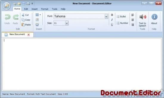 document-editor open source word processor