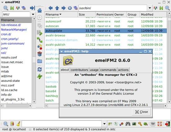 emelFM2 10 Best Free File Managers for Linux