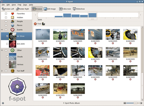 F-Spot - A personal photo management tool for GNOME desktop