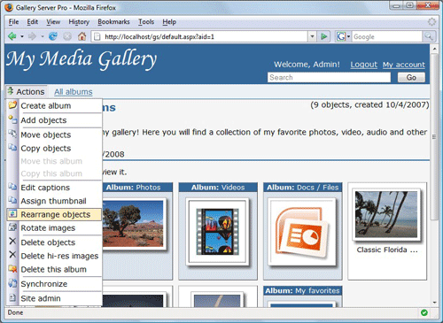 Gallery Server Pro