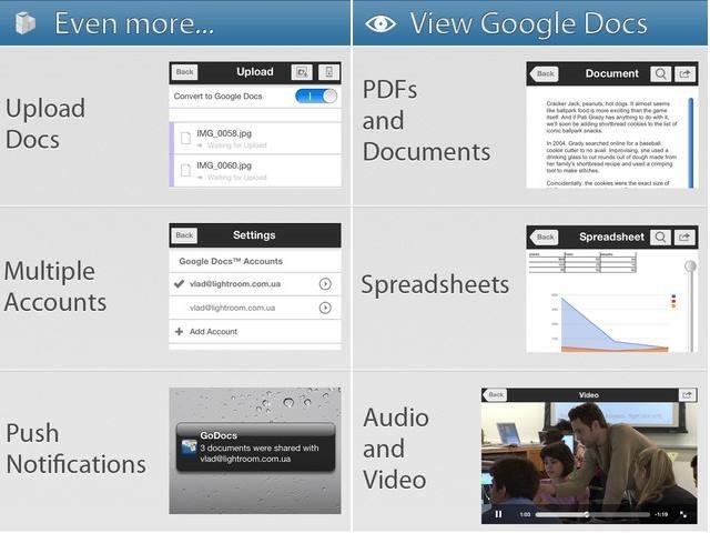 GoDocs - iPhone and iPad apps for Google Docs