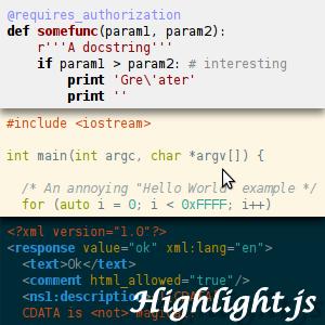 highlight-js 11 useful JavaScript syntax highlighter