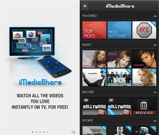 iMedia Share DLNA Streaming Apps For android