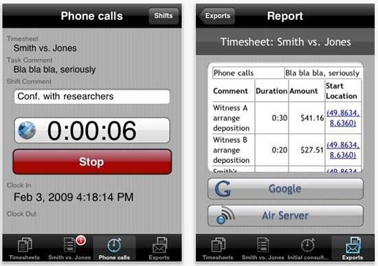 iPunchclock location aware time tracker