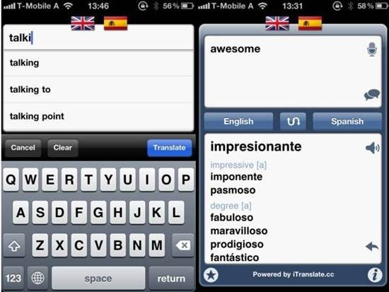 iTranslate iphone dictation apps