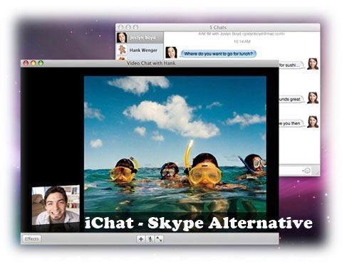 iChat - Best Skype Alternatives Apps