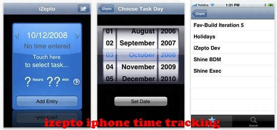 izepto iPhone Time tracking Apps