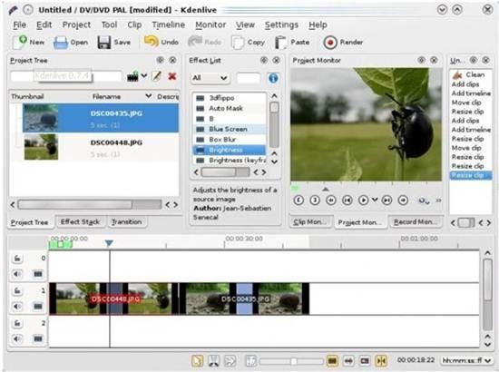 Kdenlive - open-source video editor for GNU/Linux