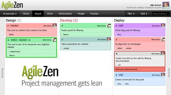 lean project manager AgileZen