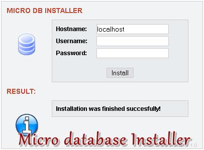 Micro database Installer