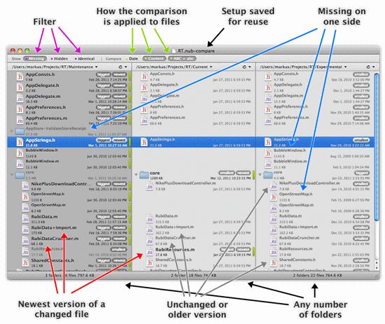 nub Folder Comparison for Mac