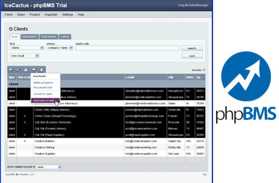 phpBMS - web based business management software (BMS)