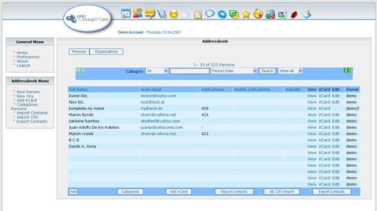 phpGroupWare - multi-user groupware suite