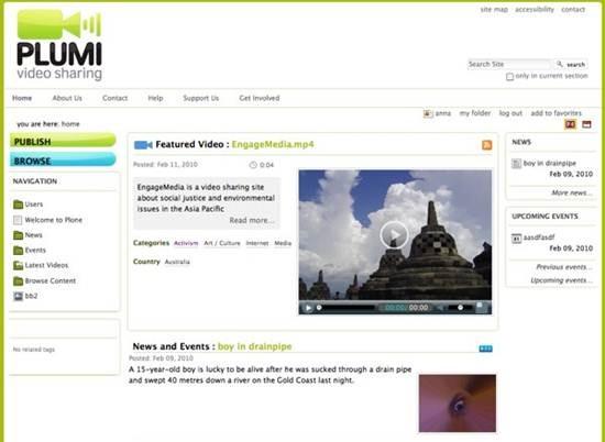 plumi - free video sharing CMS