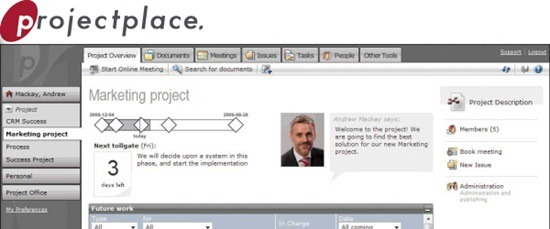 ProjectPlace project collaboration tool