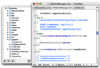 project-window-with-tabs Best Web development tools for Mac
