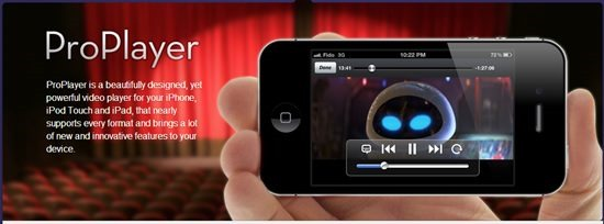 proplayer video player for iPhone