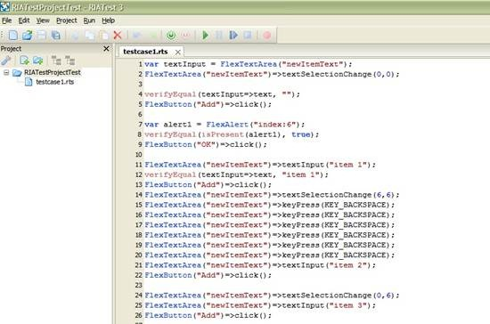 RIATest - GUI test automation tool for Adobe Flex applications