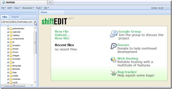 ShiftEdit - browser based IDE