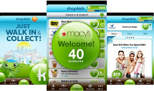 shopkick 18 free Mobile Shopping Apps for smartphone