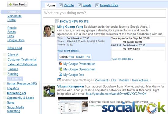 Socialwok - feed based social productivity and collaboration tool