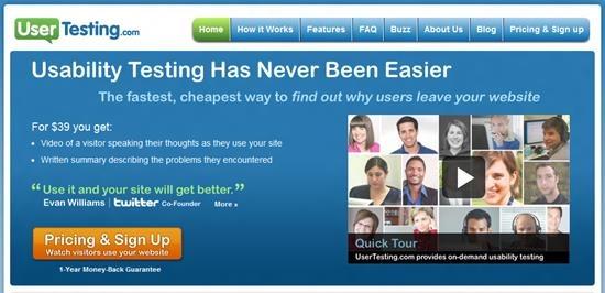 usertesting Usability Testing