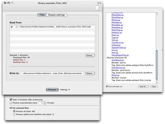 VisDoc - creates browsable HTML documentation from ActionScript