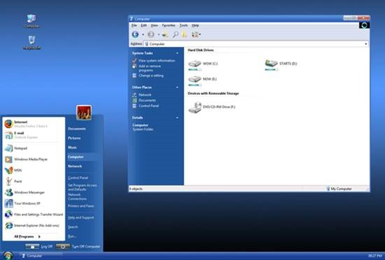 vistavg_blue_refresh_for_xp 55 most Beautiful free Window XP Themes and Visual Styles