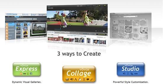 vuvox multimedia Slideshow - presentations creation tool
