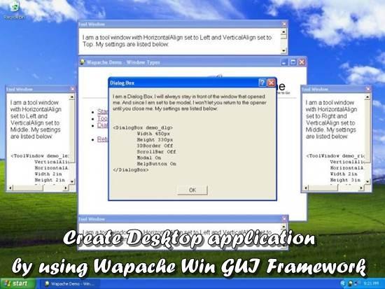 wapache framework - create desktop application