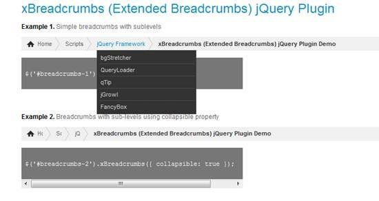 xBreadcrumbs jQuery plugin